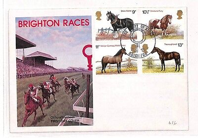 BB28 1978 GB Brighton Horse Races FDC Cover Sussex {samwells-covers}PTS