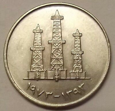 1973(Ah1393) United Arab Emirates 50 Fils Coin
