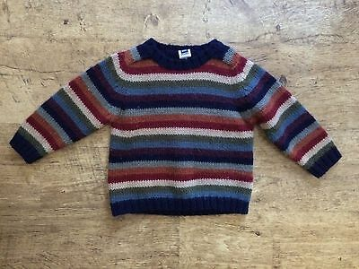 Baby Gap Striped Sweater Multicolor 18-24 Months Boy Girl Warm Wool