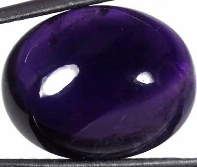 NATURAL TOP PURPLE AMETHYST LOOSE GEMSTONE (15.7 x 13.1 mm) LARGE OVAL CABOCHON