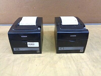 Set of 2 Citizen TZ30-M01 Thermal Receipt Printer POS USB/Serial/Ethernet