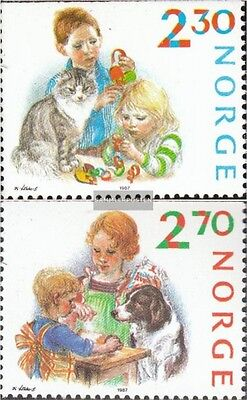 Norway 984-985 (complete issue) unmounted mint / never hinged 1987 christmas