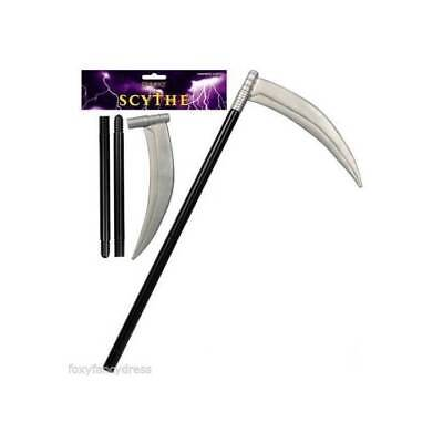 GRIM REAPER SCYTHE 110 cm HORROR HALLOWEEN WEAPON FANCY DRESS