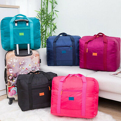 Big Foldable Travel Bag Storage Luggage Carry-on Organizer Hand Shoulder Duffle