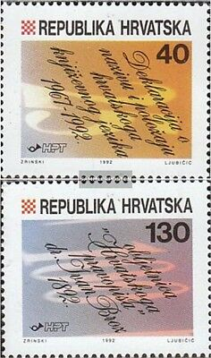Croatia 213-214 mint never hinged mnh 1992 croatian Language