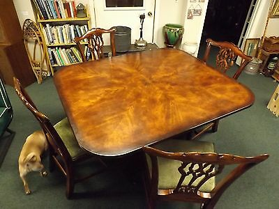 NICE Theodore Alexander Althrop Living History Flip Top Dining Table & 4 Chairs