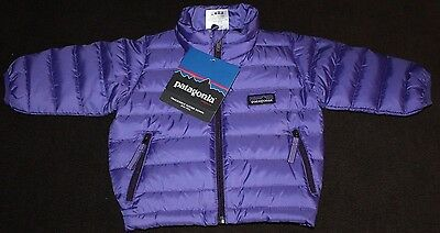 NWT $99 Infant's PATAGONIA Purple 800 Fill Goose Down Sweater Jacket  3 Months