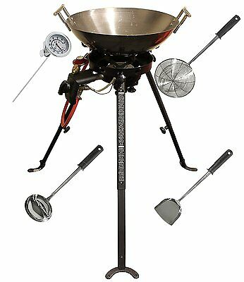 New Portable Chinese Wok Pan Cooker Lpg Lp Butane Bottled Bbq Gas Outdoor Range