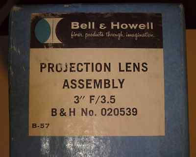 """Bell & Howell 3"""" F/3.5 Projection Lens Assembly - Anastigmat Trionar"""