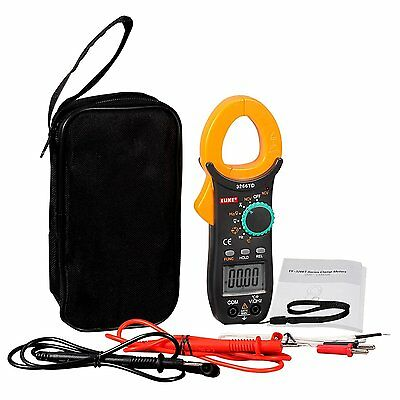 Digital Clamp on Meter Test AC DC Voltage Resistance Frequency Multimeter Tool