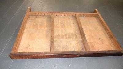 "Vintage Wooden Typeset Shadow Box Drawer Printing Block LetterPress Tray 26.5"" 3"