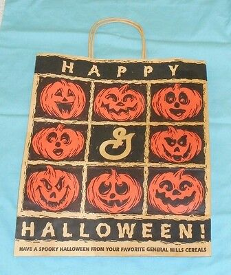 vintage GENERAL MILLS cereal Halloween TRICK-OR-TREAT BAG paper shopping bag
