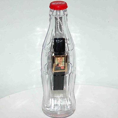 New 2002 Women's Coca Cola Watch Inside Of Contour Coke Bottle Case Ships Free