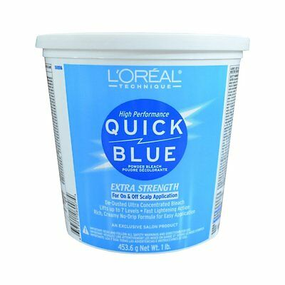L'Oreal Quick Blue Powder Bleach Professional Salon Extra Strength Scalp 1 LB