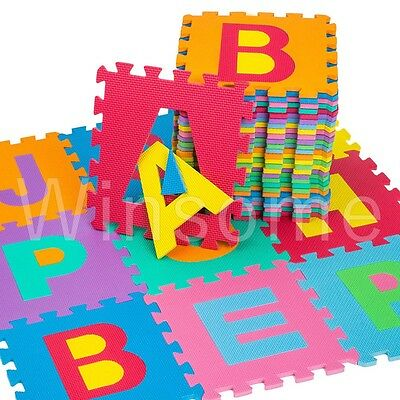 Large Kids Baby Floor Play Mats Complete Alphabet Soft EVA Foam Jigsaw Puzzle