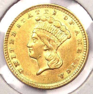 1857 Indian Dollar Gold Coin (G$1) - Excellent Condition - Nice Luster!