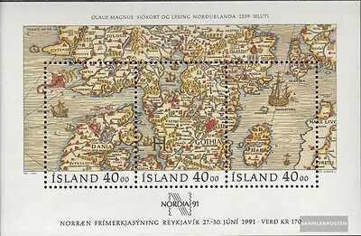 Iceland block11 (complete issue) unmounted mint / never hinged 1990 NORDIA
