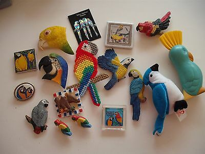 Large Lot of Parrot/Bird Items 17 items