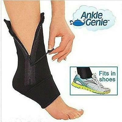 UK Ankle Genie Zip Sock Open Toe Compression Zipper Ankle Anti Fatigue Support
