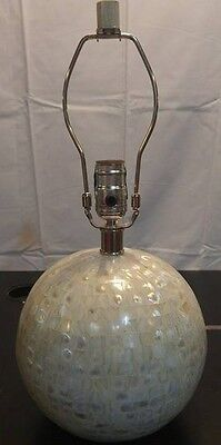 Pottery Barn Jolie Mother Of Pearl Round Lamp Base New In Box Small Crack
