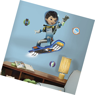 """RoomMates RMK3021GM Miles from Tomorrowland Peel & Stick Giant Wall Decals, 33"""""""