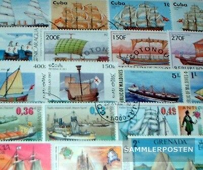 Thematics 250 different Vessels and Boats stamps