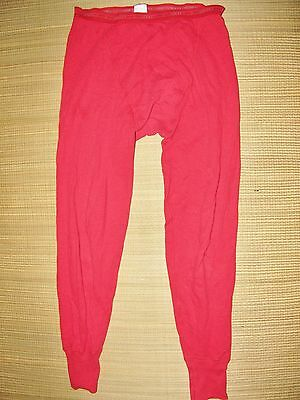 JOCKEY Brief LONG JOHNS Size 34 Cotton Y FRONT 2-LAYER FABRIC LONG Vintage RED