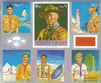 Sharjah block99 mint never hinged mnh 1971 Scouts Arabiens