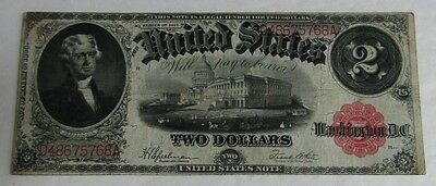 1917 United States Red Seal Two Dollar Large Note (C815)