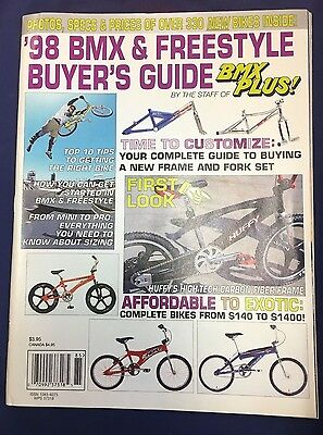 Nos Vintage '98 Bmx & Freestyle Buyer's Guide Bmx Plus! Magazine Cover Intact
