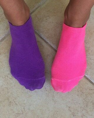Women's Cute Pink And Purple Ankle Gym Socks