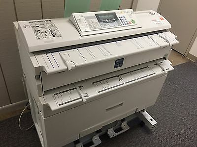 "Used Ricoh Aficio 240W 36"" Wide Plotter / Large Printer, Scanner, & Copy with PC"