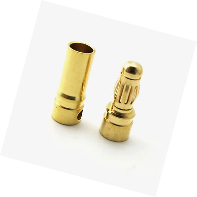 yueton 30Pairs 3.5mm Male Female Banana Plug Bullet Connector Replacements