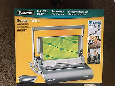 Reduced! Fellowes Quasar Wire Manual Wire Binding Machine 001631