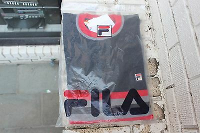 Deadstock FILA Wool Sweater Size 42 Made in Italy Vintage Borg Soccer