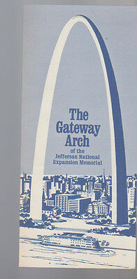 The Gateway Arch of the Jefferson National Expansion Memorial Brochure 1967