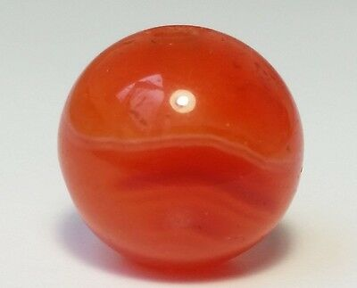 14mm RARE ANTIQUE SULEIMANI TYPE BANDED CARNELIAN / AGATE BEAD