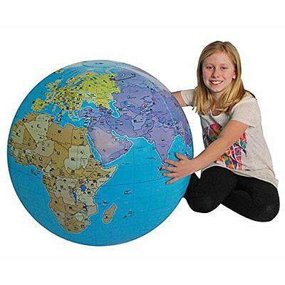 33 Inch Inflatable World Globe - Extra Large & Easy to Read by TEDCO