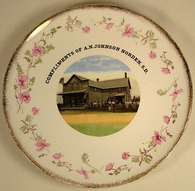 Vintage Advertising Plate A N Johnson Norden Sd Store Picture