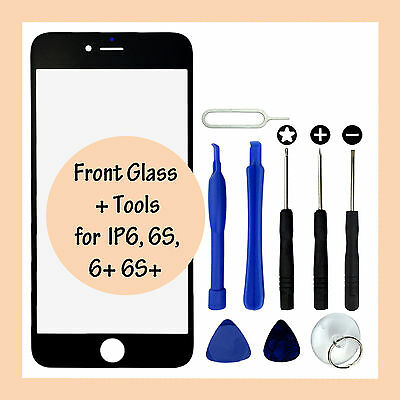 Replacement Front LCD Glass Panel Screen Cover & Tools for Apple iPhone 6 6 Plus