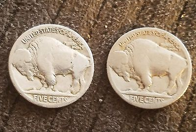 1920 P and S 5C Buffalo Nickels