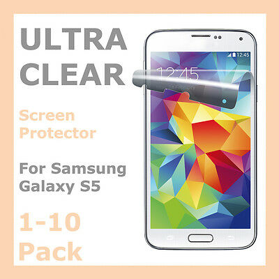 Crystal Clear Screen Protector LCD Film Guard Cover for Samsung Galaxy S5 i9600