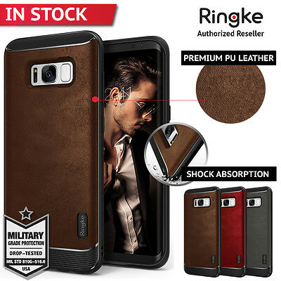 Galaxy S8 S8 Plus Case Ringke Flex S Leather TPU Flexible Cover for Samsung