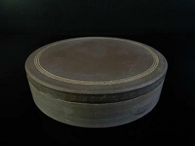 F3605: Chinese Stone Shapely INKSTONE Suzuri with a lid Calligraphy tool.