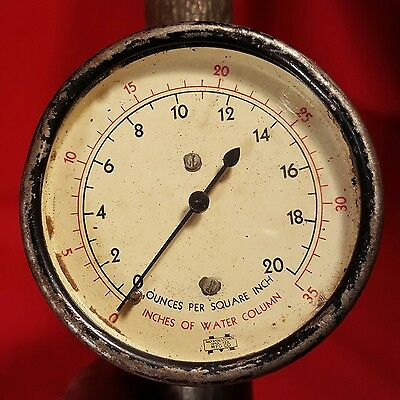Vintage Marshalltown Pressure Gauge With Shutoff Valve STEAMPUNK  20 PSI IOWA