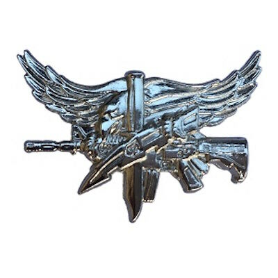Swat Pin Polished Nickel Color 1* For Police Sheriff Trooper