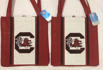 USC Gamecocks Shopping Bag Reusable Grocery Tote Lot of Two Ships Fast!