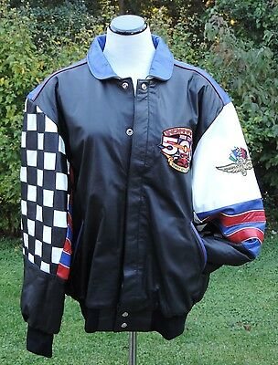 Rare1998 Indianapolis Motor Speedway 82nd Indy 500 Leather Jacket XL Made in USA
