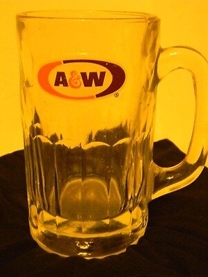 A&W Vtg. root beer mug- heavy glass - Large  size EUC