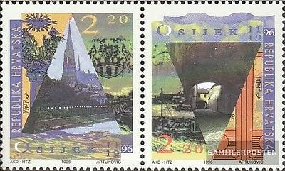 Croatia 402-403 Couple mint never hinged mnh 1996 City Osijek